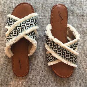 Universal Thread Jupiter Cross Band Slide Sandals